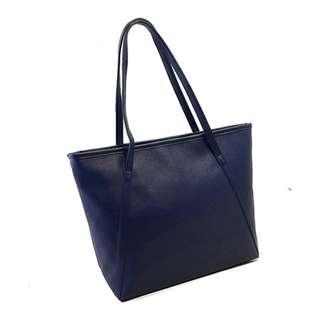 Shopper tote bag faux leather free postage clear stock