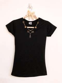 Black Necklace With T-shirt