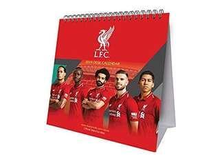 (須預訂)全新 2019 Official Liverpool Desk Calendar 利物浦 月歷