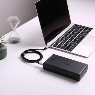 Aukey PB-Y7 30000mAh Power Bank USB C Power Delivery PD