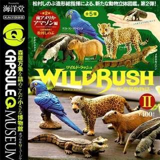 全新 海洋堂 Kaiyodo Capsule Q Museum Wild Rush Vol 2 真 世界動物誌 扭蛋 南美洲 Amazon 亞馬遜 動物 全5種