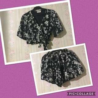Blouse and Short/Skirt Pair