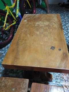 Coffee table(chess board style on top)