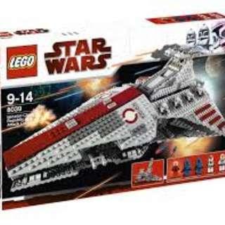 全新LEGO star wars MISB 8039 VENATOR-CLASS REPUBLIC ATTACK CRUISER