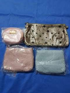 4 DIFFERENT CLUTCH BAGS & WALLET.   ALL NEW AND NEVER USED.