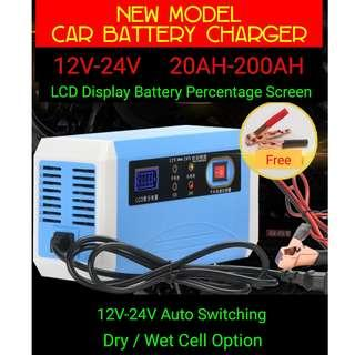 New Model Car & Motocycle Battery Charger Auto 12V - 24V