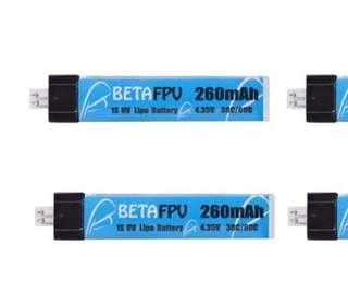 1 Pcs BETAFPV 260mAh 1S 30C Lipo HV Battery