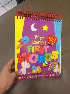 Wipe and Clean Learning First Words