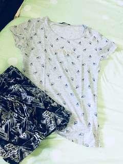 Mango bundle shirt and shorts