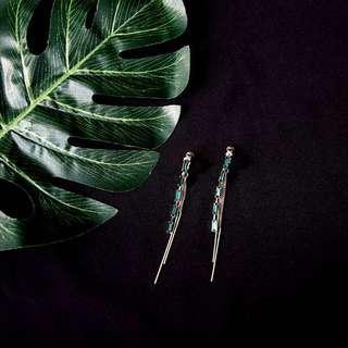 🚚 [BUY2GET1FREE!] Emerald Line S925 Silver Earrings/Clips