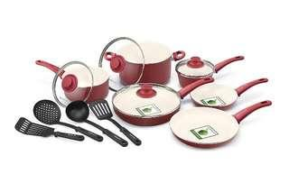 Greenlife 14pc soft grip cookware