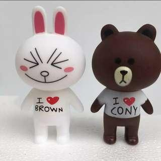 Line brown and cony cake toppers/ Figurine/toy/Display/miniature