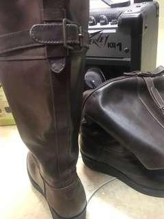 glenmore cow leather boots