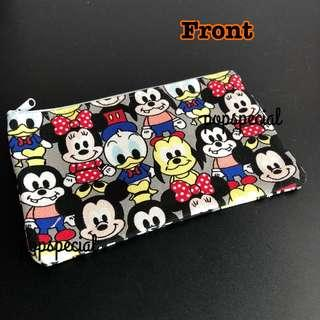 Disney Mickey Mouse Minnie Mouse Donald Duck Woofy Stationery Pouch
