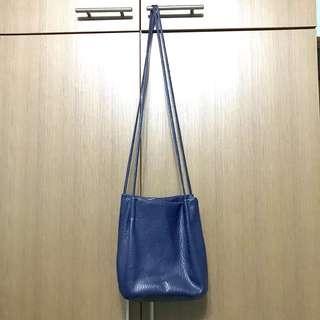Boxy Square Blue Sling Bag