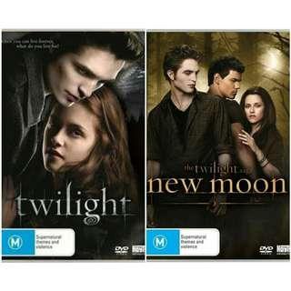 Both Twilight Saga DVDs