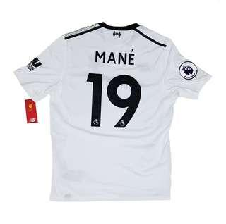 Official BNWT Liverpool FC 2017-2018 Away Jersey Mane #19