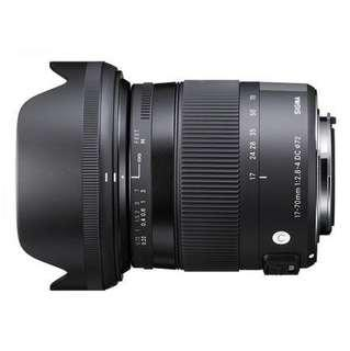 Sigma 17mm-70mm/2.8 Macro Contemporary