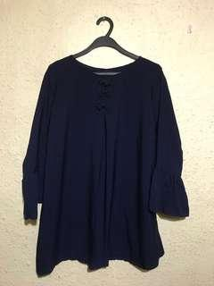 🚚 Navy Blue Top / blouse / tunic