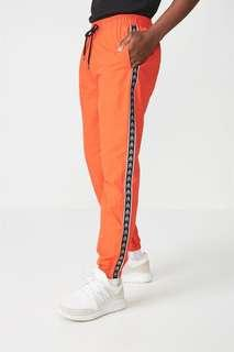 Fluor orange wind track pants
