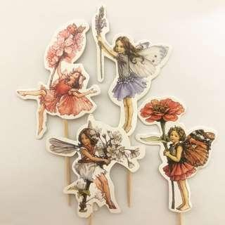 Cupcake & Cake Toppers : Garden Fairies Enchanted Forest