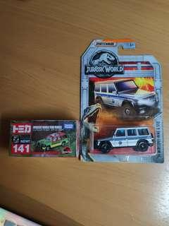 全新 侏羅紀世界Hot Wheels Jurassic World G550 / Tomica No.141 Jurassic Tour Vehicle