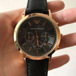 [Unisex] Emporio Armani Black & Gold Watch