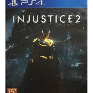 Used Playstation 4 PS4 Injustice 2 Region 3 (NEAREST MRT)