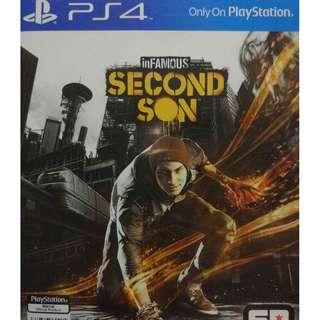 Used Playstation 4 PS4 Infamous Second Son Region 3 (NEAREST MRT)