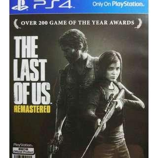 Used Playstation 4 PS4 The Last of Us Remastered Region All (NEAREST MRT)