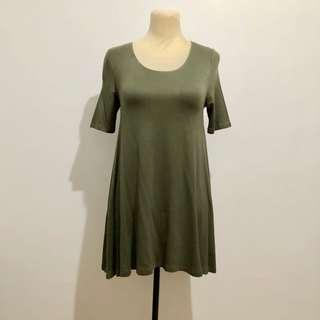 F21 Army Green Mini Dress
