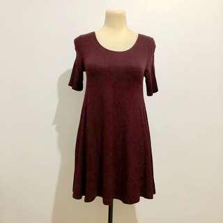 F21 Maroon Mini Dress
