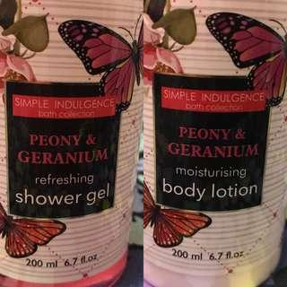 Simple Indulgence, Shower Gel & Body Lotion