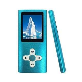 900. ANTCOOL(R) 16GB MP3 MP4 Player Energy Saving Music Player Voice Recorder FM Radio Video Player Photo Viewer E-book Viewer for Running Camping (blue)