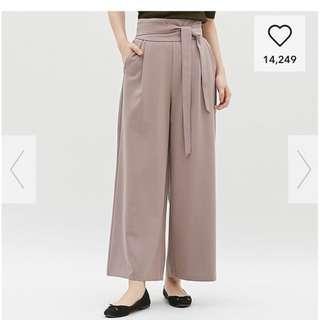 GU 杏色闊腳褲 wide pants
