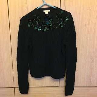 H&M dark green jewel top 冷衫 #sellitnow