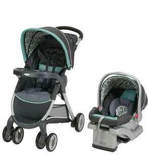 Brand New Graco FastAction Fold Click Connect Travel System Stroller car seat