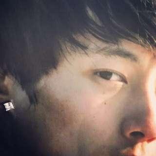 925純銀方形5MM鋯石耳環😎😊👍型男之選