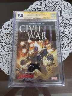 Civil War II FCBD CGC SS 9.8 x3