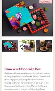 Mooncake - Grand Hyatt miniature snow skin mooncake 8 pieces (to collect at grand Hyatt)
