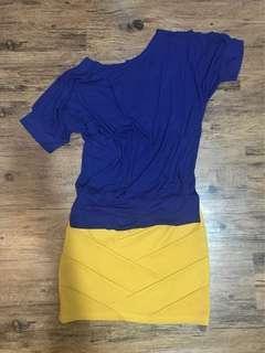 Slant shoulder top and bandage skirt bundle sale!