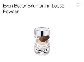 Clinique even better brightening loose powder 碎粉