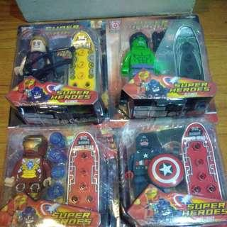 BRANDNEW AVENGERS MINI FIGURE with WEAPONS and SKATEBOARD