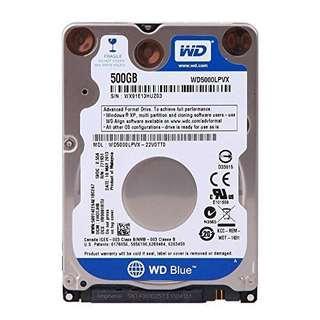 "WINDOWS INCLUDED 500GB 2.5"" Laptop Internal Hard Drive WD"