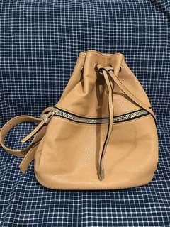 F21 Drawstring Backpack in Faux Leather