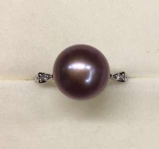 🚚 天然愛迪生珍珠戒指