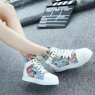 [NEW] [PO] PROMOTION FOR MONTH OF SEPT!!!  Super Pretty Cool HIgh Cut Shoes!