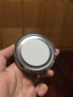 銀色鏡盒 連銅片