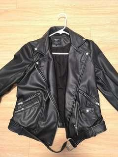 Zara Faux Leather Jacket Large - great condition