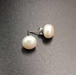 🚚 天然淡水珍珠耳環